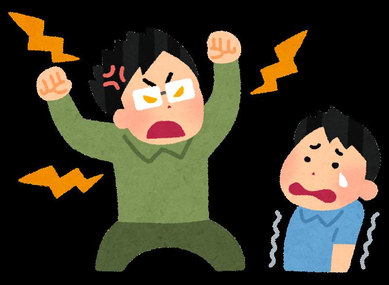 子供を怒るお父さん