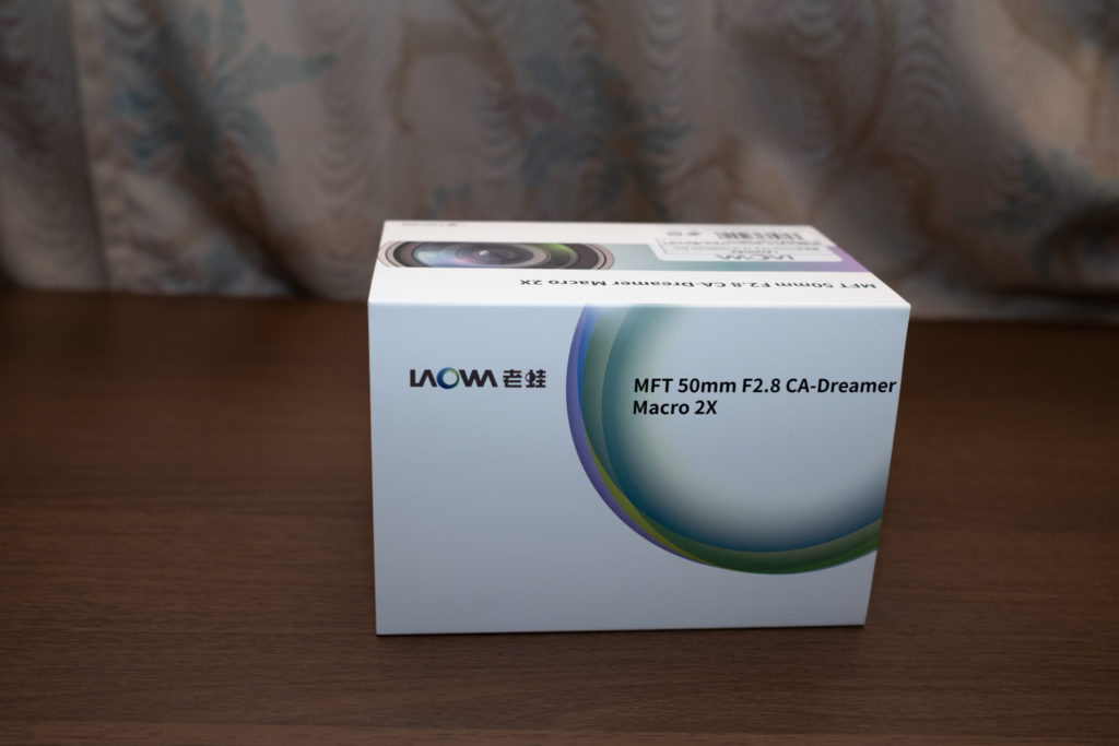 LAOWA 50mm f2.8 CA-Dreamer Macro 2Xの箱
