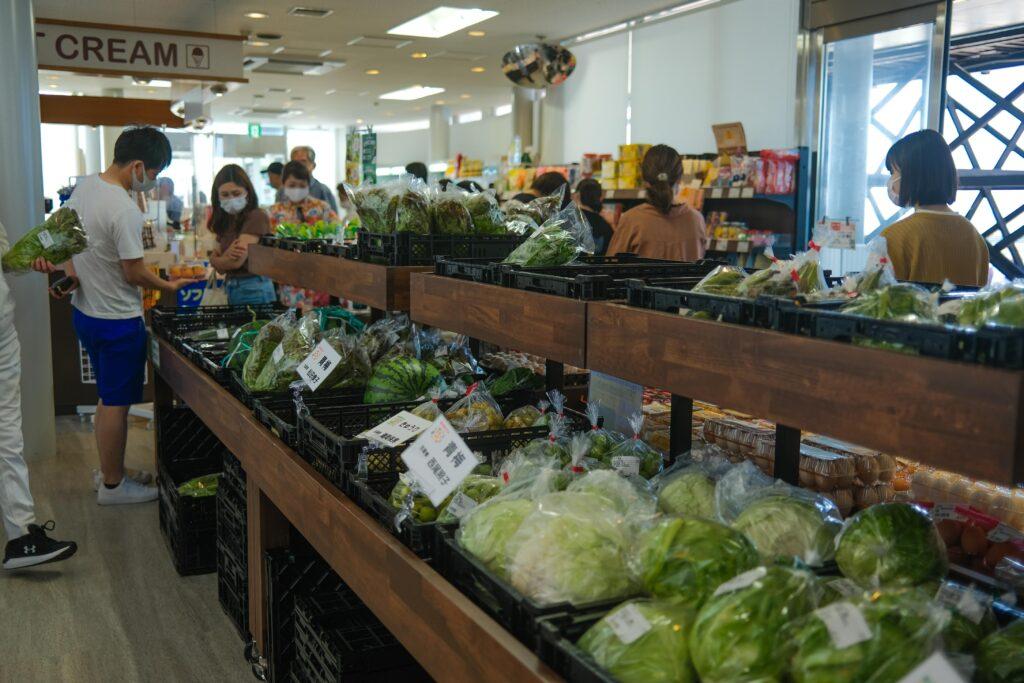 農産物の物産販売
